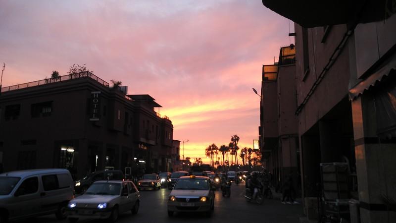 Zonsondergang Marrakech
