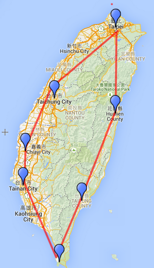 Route Taiwan